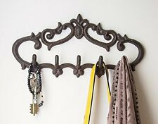Vintage Rustic Design Wall Mounted Hook Hanger Iron Coat Jacket Hat Key Rack