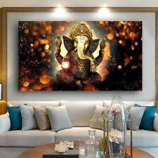 New wall Art Print Lord Ganesha Vinayaka Ganapati Statue Buddha Painting
