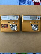 2 Sony NET MD Walkman MZ-N505 Portable Minidisc Recorders For Parts Only