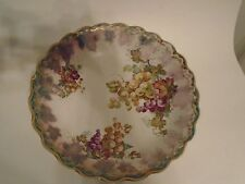 Empire China Vintage Handpainted Grape Cluster Scalloped Gold Trim