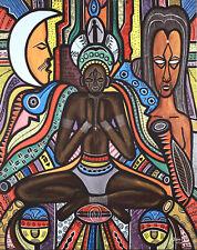 JOSEPH DIMI (b.1921) ECOLE POTO POTO - OIL CANVAS -  CONGO PAINTER AFRICAN ART