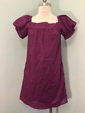 Vanitas of California Cotton purple Shift dress EUC 2 4 S Casual Career Anthro