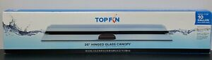 """Top Fin 20"""" Hinged Glass Canopy Top - Ideal For 10 Gallon Aquariums"""
