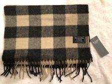 NWT Authentic Abercrombie And Fitch Plaid Multicolor Men Scarf One Size $48 Cute