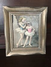 Vintage 50's Framed Ballerinas Cydney Grossman Lister Artist Girls Room Decor