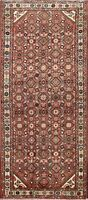 Vintage Geometric Hamedan Area Rug Traditional Oriental Wool Kitchen Carpet 3x6