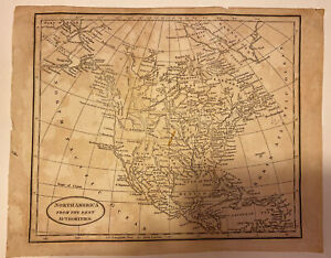 """Authentic 1790 Map of """"North America From the Best Authorities""""  John Russell"""