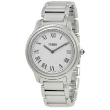 Fendi Classico White Dial Mens Stainless Steel Watch F251014000