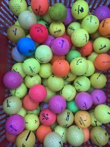 200 Mixed Coloured Golf Balls
