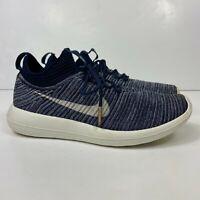 Nike Roshe Two Flyknit V2 Women's Size US 8 Running Shoes Blue/White 917688-400