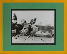 """B&W Polo Match Framed c2001 Photo by Sebastian Lezica"""