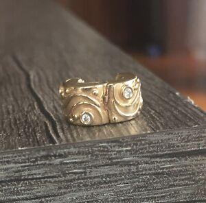 Authentic Babbling Brook Pandora 14K Gold Charm Clip with Diamond - 750418SA