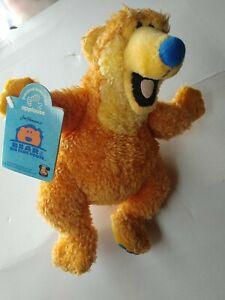 """RARE! APPLAUSE Bear In The Big Blue House 9"""" BEANIE Plush Jim Henson"""