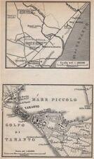 Metaponto/METAPONTINO & TARANTO Antico CITTA 'città piano. l'Italia MUNDI 1896
