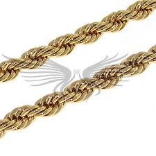"Men's Gold and Silver Color Rope Chain 3 4 5 6 8 9 10 mm 8"" 20"" 24"" 30"" 36"""