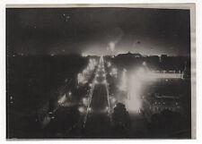 Photo ancienne Paris Illuminations Feu d'artifices Lumière Nuit Vers 1910-1920