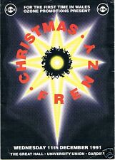 CHRISTMAS FRENZY Rave Flyer Flyers 11/12/91 A5 The Great Hall Cardiff University