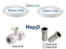 Pushfit heating pack 10mm and 22mm Easylay pipe, Hep20 inserts and reducing tees