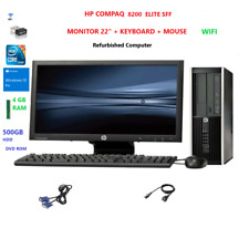 PC SET HP 8200 All in One Core i5 8GB 500GB HDD 22