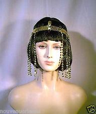 Economy Gold Sequin and Beaded Fringe Egyptian Asp Headband Costume Headpiece