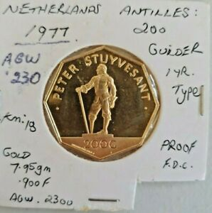 Netherlands 1977 Antilles Peter Stuyvesant 200 Gulden Gold