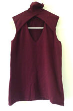 Gucci burgundy mock turtle neck sleeveless top- Size XS (New with tags)