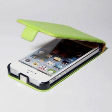 Flip Case für iPhone 5S 5 SE Tasche Handy Flip Schutz Hülle Schale Cover Grün