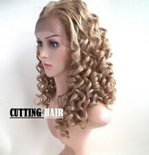 Invisible Lace Glueness Blonde Mix Med Long Lace Front Wig LF1026-27/613