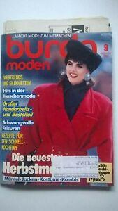 Burda Mode, Schnittmuster Zeitschrift, September 1986, Herbstmode, Gr. 36 bis 48