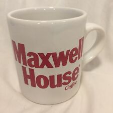 Maxwell House Coffee Mug Cup Advertising Brand Logo Made in England Vintage