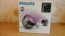 70999/30/PU LED PHILIPS LIVING Colors lampada IRIS NERO telecomando (nuovo/Nuovo di zecca)