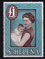 St Helena One Pound Stamp c1961-65 Unmounted Mint Never Hinged (1965)