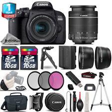 Canon Rebel 800D T7i DSLR Camera + 18-55mm IS STM +1yr Warranty -32GB Kit Bundle