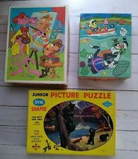 Lot of 3 Vintage Children's Jigsaw Puzzles Pink Panther Tweety Sylvester Bears