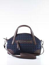 Vera Bradley Wildwood Park Navy Blue Microfiber Large Tote Shoulder Hand Bag