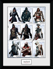 Assassins Creed Compilation Characters - Mounted & Framed Print