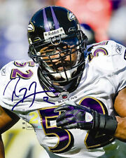 """Ray Lewis NFL Baltimore Ravens 8""""x 10"""" Signed Color PHOTO REPRINT"""