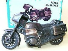 Vintage Die-Cast metal Mini BMW Motorcycle pencil Sharpener