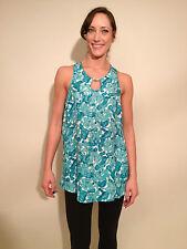 CYNTHIA STEFFE  Topaz Sleeveless Tank Top, Jade Green, NWT, Size 4.  $145