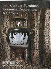 19th Century Furniture, Ceramics, Decorations & Carpets, Auction Catalog 6/24/99