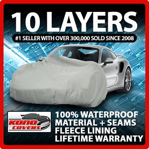 10 Layer Car Cover Indoor Outdoor Waterproof Breathable Layers Fleece Lining 343