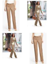 Women's Talbots pants flannel windsor stretch Italian virgin wool size 6P NWT