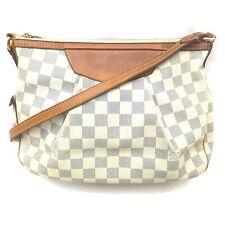 Louis Vuitton Shoulder Bag N41113 Siracusa PM Whites Damier Azur 1409738