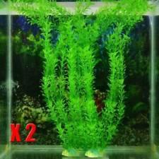 2* Aquarium Fish Tank Accessories Decor Green Grass Artificial Plant Fake Plant*