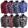 Flannel Plaid Shirt Mens Western Button Pockets 8 New Cool Colors Long Sleeve b