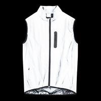 Men High Vis Running Gilet Cycling Vest High Visibility Waterproof Coat Bike Top