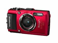 Olympus TG-4 Tough Waterproof Digital Camera with WIFI, 3-Inch LCD (Red)