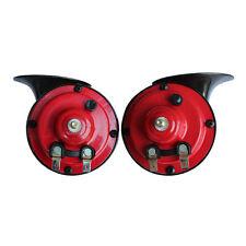 Pair 12V/24V Loud Car 135DB 510hz/410hz Dual-tone Snail Electric Air Horn Siren