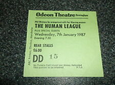 THE HUMAN LEAGUE  TICKET STUB ODEON BIRMINGHAM 7th JANUARY 1987