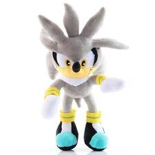 Plüschtier Sonic The Hedgehog Silver Plüsch Figur Kuscheltier Stofftier 28 cm